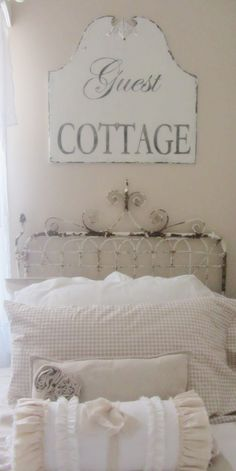 love the gate headboard and guest sign