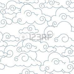Seamless stylisée nuages Banque d'images