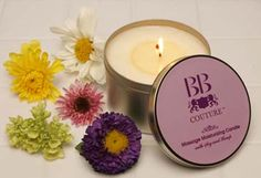 BB Couture Massage Moisturizing Candles. #bbcouture #candlelotion #organic