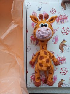 Crochet Toys Patterns, Stuffed Toys Patterns, Pink Peonies, Cute Pattern, Handmade Toys, Giraffe, Craft Supplies, Dinosaur Stuffed Animal, Best Gifts