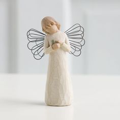 Angel of healing-for those who give comfort with caring and tenderness. willow tree is an intimate, personal line of figurative sculptures representing qualities and sentiments that help us feel close