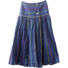 Retro 1980's Hippie Skirt (Sharon Young) : 80s -Sharon Young- Womens... ($24) ❤ liked on Polyvore