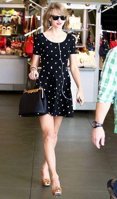 Taylor Swift rocks a $15 polka dot dress from H&M while out and about