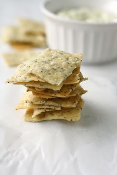 Poppy seed cracker recipe - vegan and gluten free and so easy to make!
