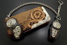 Fine art hand crafts, handtooled leather wallet, kubota craft leather - Поиск в