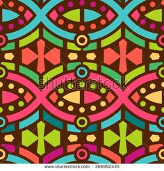 Seamless Geometric #Pattern for Textile Design