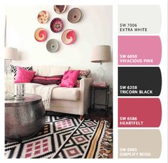 Neutral colors with bright pops of pink. So pretty! #colortrends2013 #castlepainting