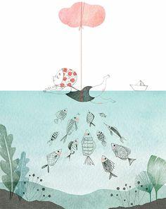 L'infanzia che avreste voluto nelle illustrazioni di Isabelle Follath | PICAME