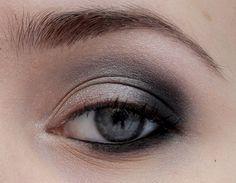 Black, Silver smokey eye