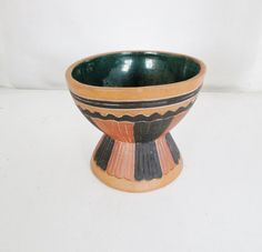 Vintage Pottery Vase Mexican Planter Unique by TheDustyOldShack
