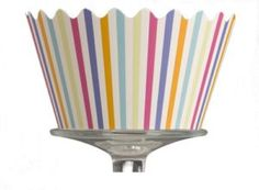 candy stripe cupcake wrapper