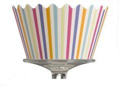 candy stripe cupcake wrapper