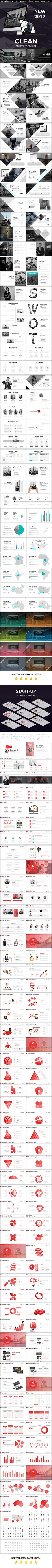 Clean 2017 Powerpoint Presentation Template Bundle