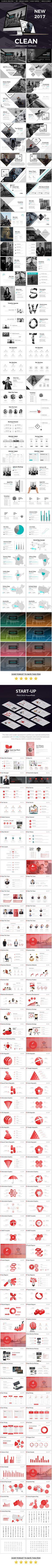 Clean 2017 Powerpoint Presentation Template Bundle
