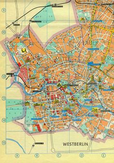 1984 East Berlin City Map --> See more at http://www.everythingaboutgermany.com