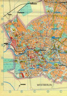 East Berlin City Map 1984