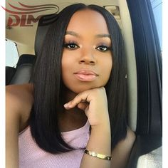 131.50$ Watch now - http://ali035.worldwells.pw/go.php?t=32764338846 - Full Lace Human Hair Bob Wigs Free parting Short Straight Hair 150% Heavy Density Wigs Soft Bob Wigs With Lace Frontal Baby Hair