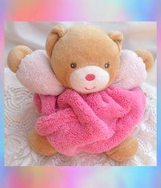Kaloo Doudou Ours Pop Peluche Boule Rose Vert Coeur Miroir