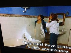 From the movie under the Tuscan sun, bathroom walls
