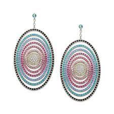 Resultado de imagem para crystal oval earrings