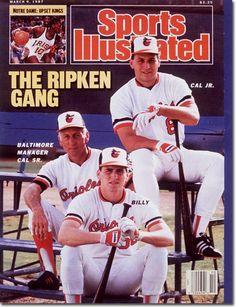 Sports Illustrated - March 09, 1987. Cal Ripken Sr, Cal Ripken Jr, & Bill Ripken.  Love this cover.