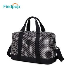 fcd50448527 Findpop Nylon Women's Travel Bag 2018 Casual Plaid Travel Totes Large  Capacity Waterproof Luggage Bag Business