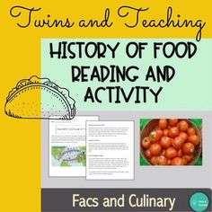 Culinary Classes, Culinary Arts, Middle School, High School, Classroom Routines, Science Student, Teaching History, Types Of Food, Teacher Resources