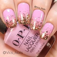 simple and easy glitter nails tutorial you can diy and try - nail art connect Toe Nails, Pink Nails, Glitter Nails, Glitter Art, Silver Glitter, Nails For Kids, Nail Art Videos, Nail Tutorials, Trendy Nails