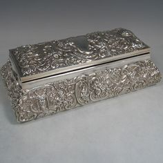 antique+sterling+silver+boxes | Jewellery boxes in Antique Sterling Silver Bryan Douglas Antique ...