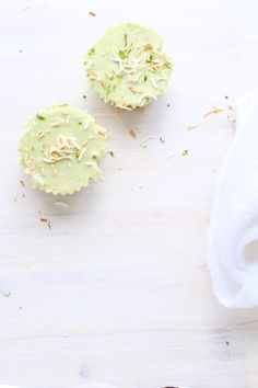 Coconut Avocado Lime Tartlets