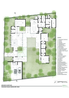 Gallery of Krishnan House / Khosla Associates - 23 Modern Tropical House, Tropical House Design, Tropical Houses, Minimalist House Design, Minimalist Bedroom, Minimalist Home, Small House Plans, House Floor Plans, Villa Plan