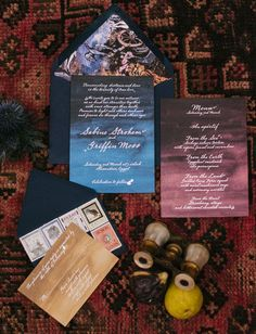 Griffin and Sabine inspired invitation with galaxy design