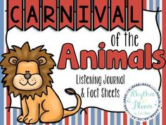 These fun printables are perfect for your Carnival of the Animals unit!  All 22 fact sheets are printable in black and white with fun animations for your students to color and design.The listening journal is already assembled in an easy print, half page booklet (with printing instructions!) It includes a brief description of the piece, a composer bio, a short description of each movement and a journaling page for each movement.