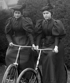 1890s ~ Cycling was a movement embraced by women as a way to be independent