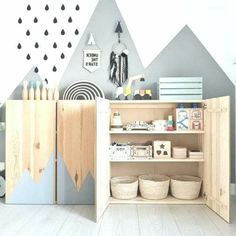 Mommo Design 10 ways to use IKEA IVAR in children's and baby rooms - Large Furniture, Find Furniture, Baby Room Boy, Kids Bedroom, Bedroom Decor, Second Hand Furniture, Baby Room Design, Kids Rugs, Decoration