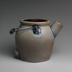 Batter jug ca. 1882-85, American-MidAtlantic, New York (stoneware) Marking: incised and filled in with blue glaze on underside: WHITES' BINGHAMPTON / 4
