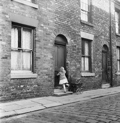 View top-quality stock photos of Salford Street. Find premium, high-resolution stock photography at Getty Images. Old Photos, Vintage Photos, Vintage Pram, Abandoned Churches, Northern England, Salford, Slums, Back In Time, Light Photography