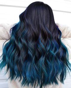 Cool Tone Hair Colors, Hair Dye Colors, Cool Hair Color, Raven Hair Color, Amazing Hair Color, Creative Hair Color, Beautiful Hair Color, Blue Black Hair Color, Hair Color Ideas For Black Hair