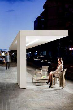 Fran Silvestre Arquitectos — CANOPY — Image 3 of 9 - Europaconcorsi Minimal Architecture, Mediterranean Architecture, Amazing Architecture, Landscape Architecture, Landscape Elements, Urban Landscape, Landscape Design, Bus Stop Design, Outdoor Rooms