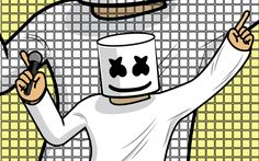 Download wallpapers DJ Marshmello, abstract art, creative, DJ, superstars, Marshmello