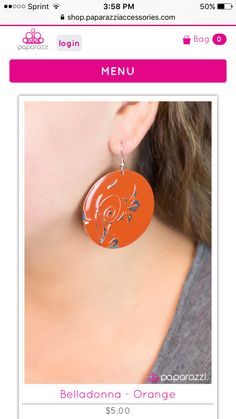 Support your VOLS by wearing orange earrings! Available on my website www.paparazziaccessories.com/31954
