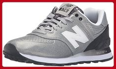 huge selection of 9ff88 a0e26 New Balance Women s WL574 Gradiant Pack Running Shoe, Silver Black, 12 B US