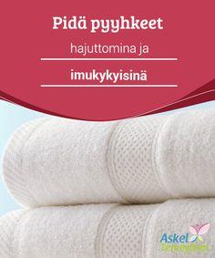 Pidä pyyhkeet hajuttomina ja imukykyisinä  #Ruokasooda ja etikka ovat #täydelliset aineet #pyyhkeiden hajunpoistoon ja imukyvyn lisäämiseen.  #Mielenkiintoistatietoa