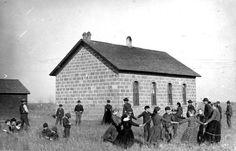 Children in Kansas during the 1890s-1920s Centennial School in Montgomery County, KS