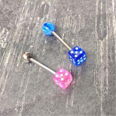 14GA 1//2 Made with Swarovski Crystals Double Crystal Disco Ferido Ball Barbells Tongue Bar Crystal Moonlight