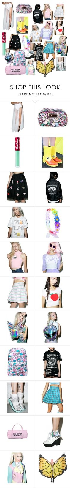 """""""DollsKill"""" by mygirlnirv124 on Polyvore featuring Tokidoki, Lime Crime, Creep Street, Goodie Two Sleeves, 24HRS, A.Peach, O-Mighty, Current Mood, Disturbia and Loungefly"""