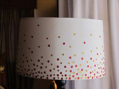 Dress up a lampshade with rhinestones