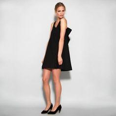 Midnight bow dress by Nadinoo on Etsy