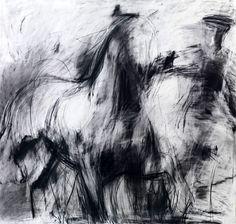 impressionistic charcoal drawing-