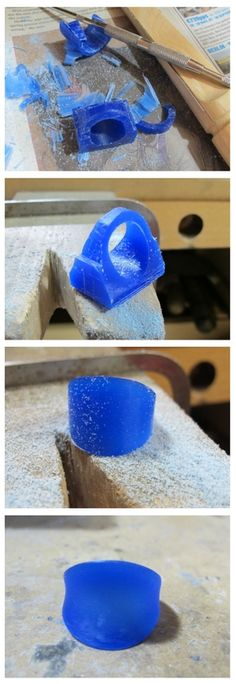 Step by step by painstaking step -- making wax molding for any type of metal